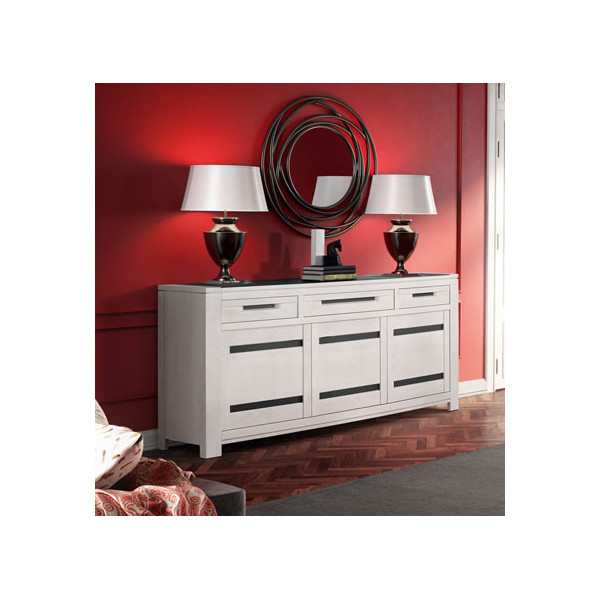 enfilade 3 portes et 3 tiroirs ines de chez cacio. Black Bedroom Furniture Sets. Home Design Ideas